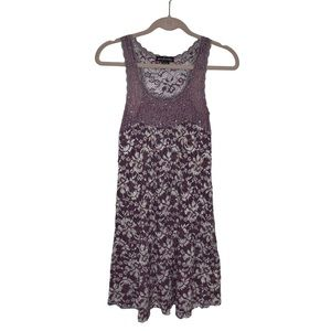 Ann Ferriday Womans One Size Lace Sleeveless Dress